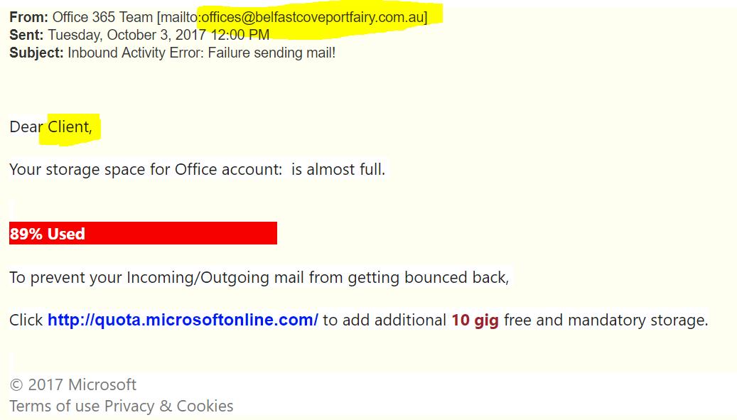 Phishing Examples 2013 Office 365 Phishing Ex...