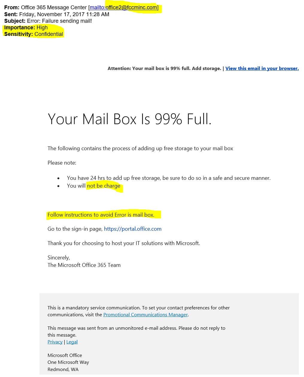 microsoft office e mail